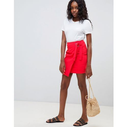 Glamorous wrap mini skirt - Red