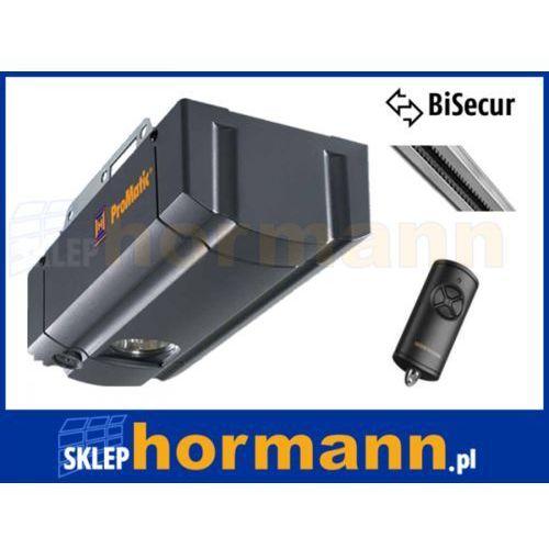 Zestaw: napęd promatic seria 3 bisecur (siła 750 n, do 11 m2) + szyna k+ pilot hse 4 bs marki Hormann