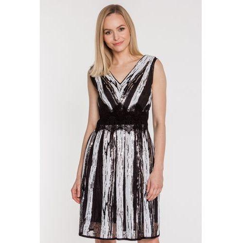 76aa2fd5f6 Cekinowa sukienka z koronką - marki Studio mody francoise 716