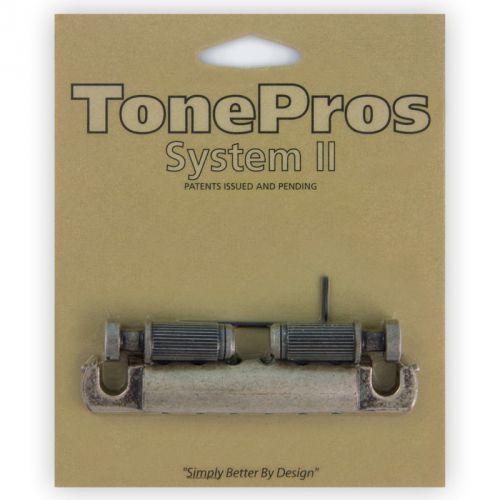 Tonepros t1zsa-as - tailpiece, części mostka do gitary, ′′srebrny antyk′′
