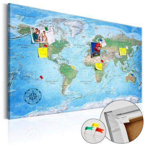 Obraz na korku - tradycyjna kartografia [mapa korkowa] marki Artgeist