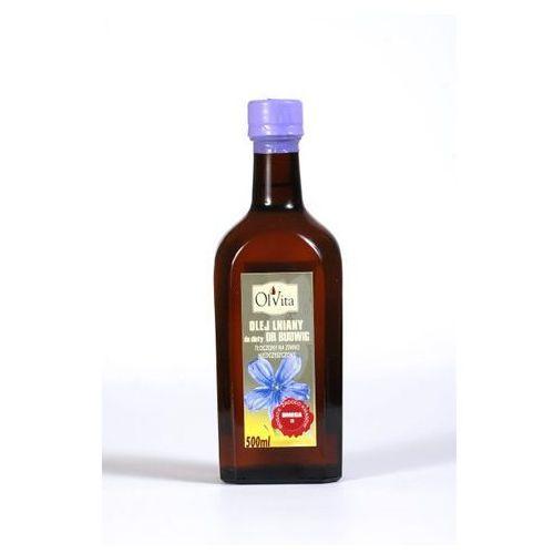Olej lniany do diety Dr Budwig 500 ml z kategorii Oleje, oliwy i octy