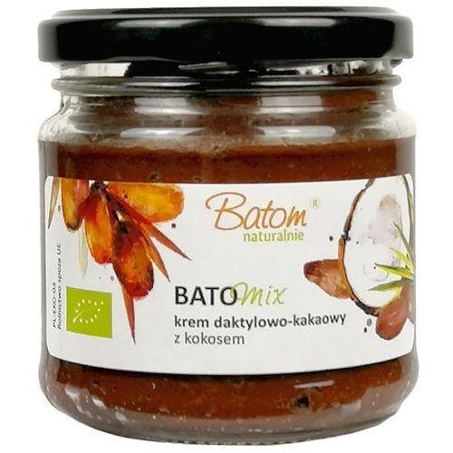 Batom (dżemy, soki, kompoty, czystek) Krem daktylowo - kakaowy z olejem kokosowym bio 200 g - batom