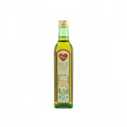 Olej lniany wielkopolski 500 ml (olej, ocet)