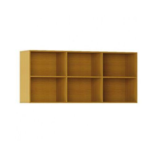 Biblioteka INTEGRO s półkami, wyższa, czereśnia