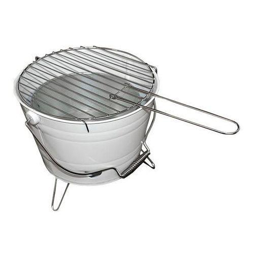 Grill ogrodowy wiaderko mini BBQ przenośny biały z kategorii grille