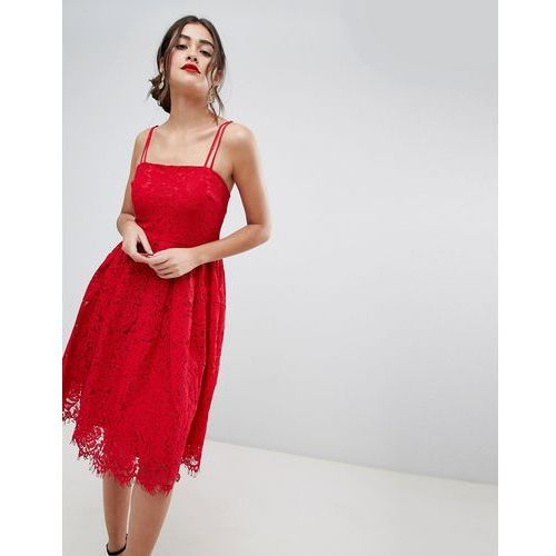 lace skater dress - red marki New look