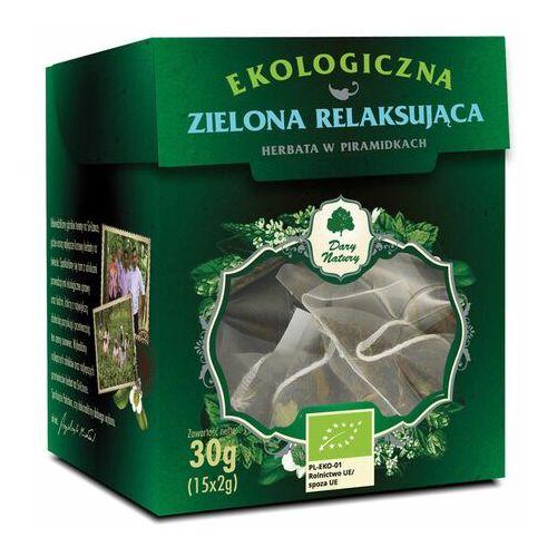 HERBATA ZIELONA RELAKSUJĄCA PIRAMIDKI BIO (15 x 2 g) 30 g - DARY NATURY