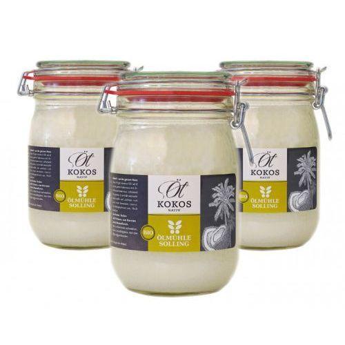 Bio olej kokosowy na zimno tłoczony 1000 ml - zestaw x 3 marki Ölmühle solling