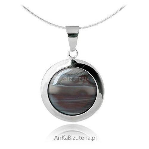 Zawieszka srebrna krzemień pasiasty ze sklepu AnKa Biżuteria