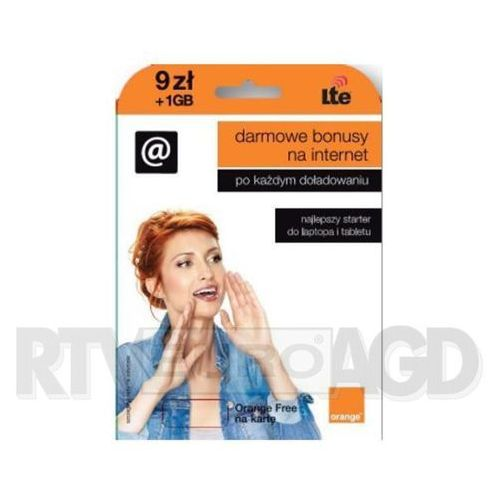 Starter orange free na kartę 9 pln marki Orange