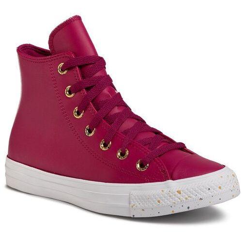 Sneakersy CONVERSE - Ctas Hi 566723C Rose Maroon/Gold/White, kolor fioletowy