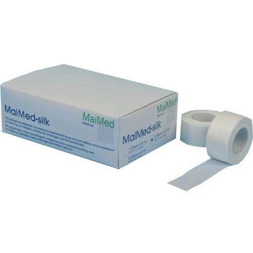 Maimed -silk przylepiec ze sztucznego jedwabiu 2,5cm x 9,1m
