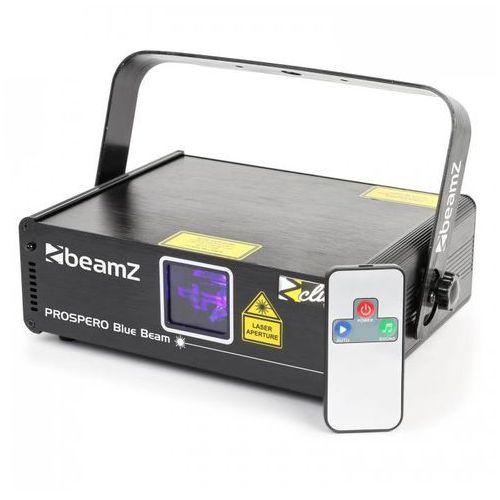 Beamz Prospero ii laser sceniczny 150 mw niebieski 8-dmx master/slave auto pilot na podczerwień