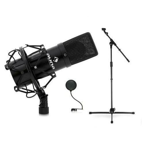 dj paestradowy-& mikrofon studyjny, statyw i uchwyt do mikrofonu marki Auna