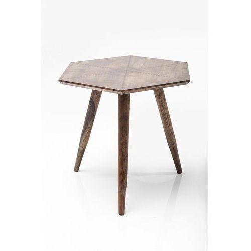 Kare design :: stolik tangram copper 50x50cm - drewniany ||miedziany