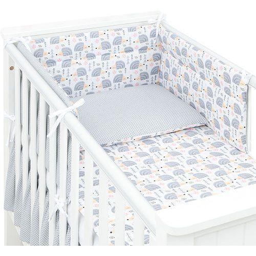 Mamo-tato 3-el dwustronna pościel dla niemowląt jeżyki szare / kropki szare do łóżeczka 70x140 cm