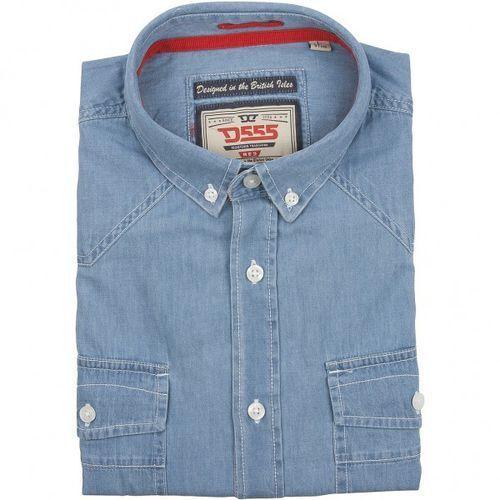 e7e37f6dc38157 Jasnoniebieska koszula jeansowa D555 z krótkim rękawem 109,00 zł D555  KOSZULA JEANSOWA linii NATHAN Bawełniana koszula jeansowa z krótkim rękawem  w odcieniu ...