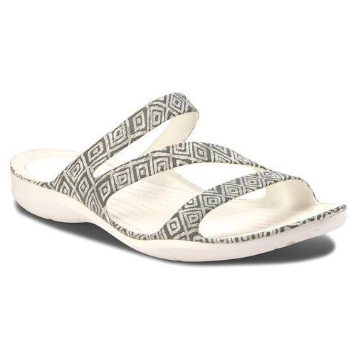 Klapki - swiftwater graphic sandal w 204461 grey diamond/white, Crocs, 36.5-41.5