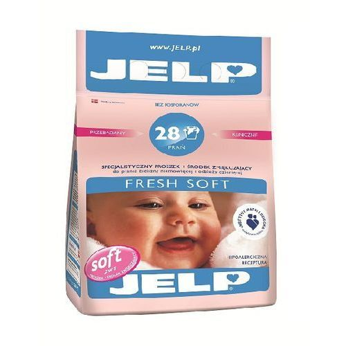JELP Hipoalregiczny proszek zmiękczający Fresh Soft biel 2,24 kg (28 prań) (proszek do prania ubrań)