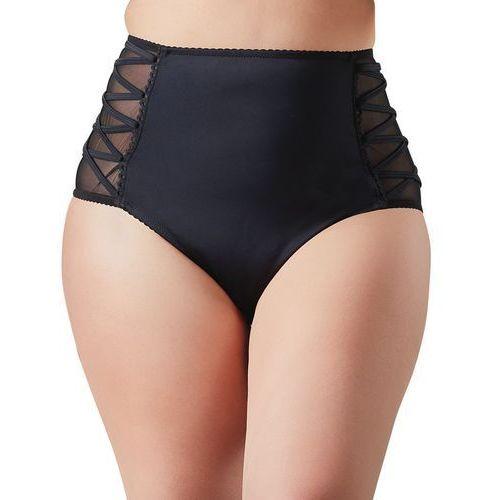 Majtki z wysokim stanem Bikini slip, Rozmiar: XL, Kolor: Czarny, kolor czarny