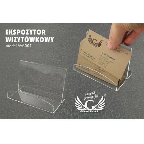 Grawernia.pl - grawerowanie i wycinanie laserem Ekspozytor wizytówkowy - model wa001