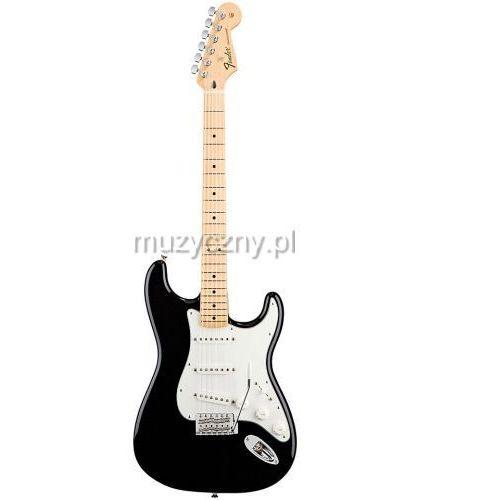 standard stratocaster mn black gitara elektryczna, podstrunnica klonowa marki Fender