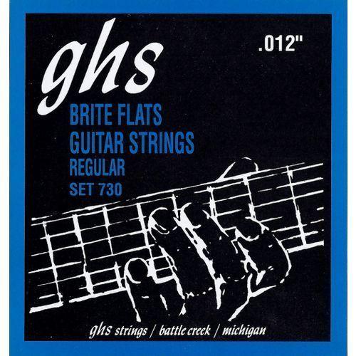 Ghs brite flats struny do gitary elektrycznej, regular,.012-.054