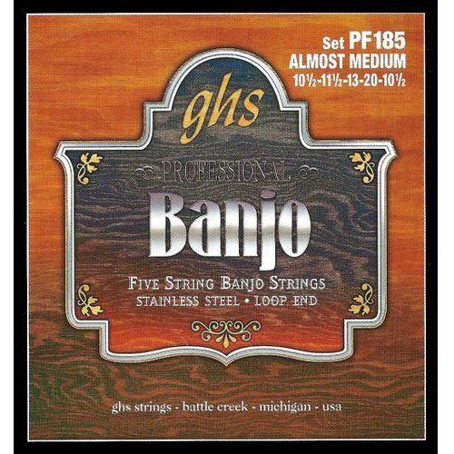 professional struny do banjo, 5-str. loop end, stainless steel, almost medium,.0105-.020 marki Ghs
