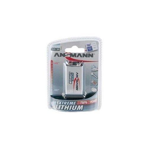 Ansmann Bateria extreme lithium 1x e-block (9v) (1 sztuka)