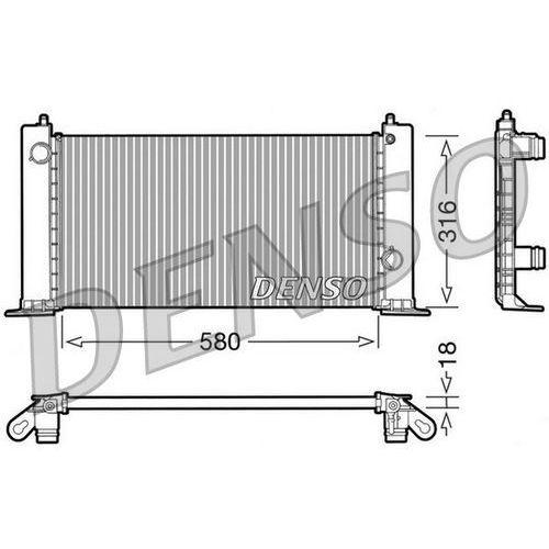 Chłodnica, układ chłodzenia silnika DENSO DRM09120 (8717613472668)