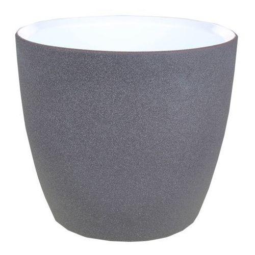 Osłonka doniczki Cermax 15 cm ciemny grafit struktura