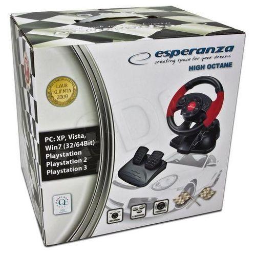 Kierownica high octane eg103 ( ps2 ps3 pc; d-pad wibracje podstawa z pedałami łopatki do zmiany biegów ) marki Esperanza