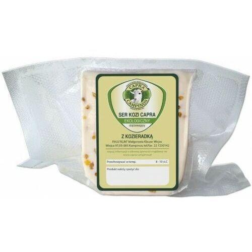Kozi ser dojrzewający z kozieradką bio (ok. 0,20 kg) - capra campinos marki Capra campinos (nabiał z mleka koziego)