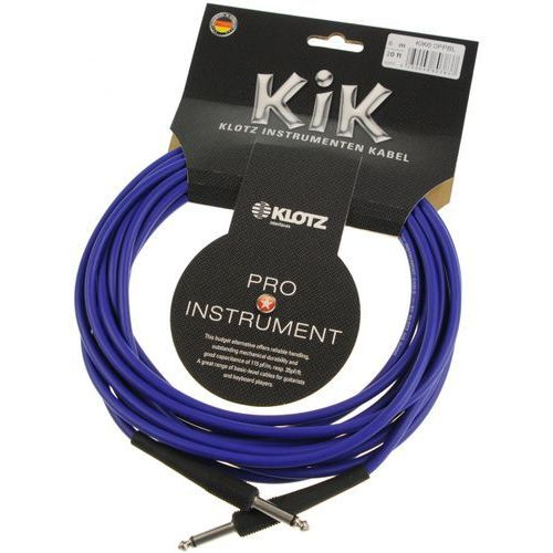 Klotz KIK 6.0 PP BL kabel instrumentalny 6m, niebieski