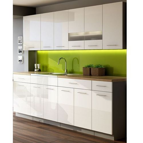 Zestaw mebli kuchennych Singiel Luxe Blanco 2,6 m produkcji Stolkar | Transport Gratis! z kategorii zestawy mebli kuchennych