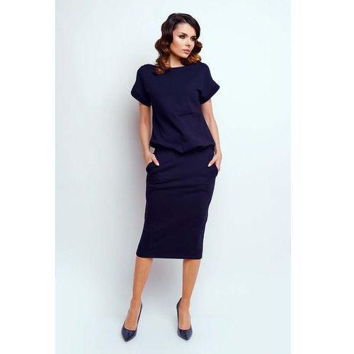 8327fcdf1f ... sukienka midi z krótkim rękawkiem marki Nommo 127