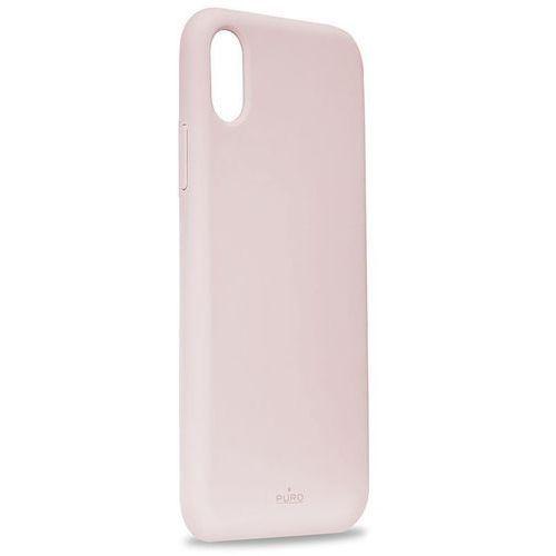Puro Icon Cover Etui Obudowa iPhone Xs / X (Różowy) Limited Edition, kolor różowy