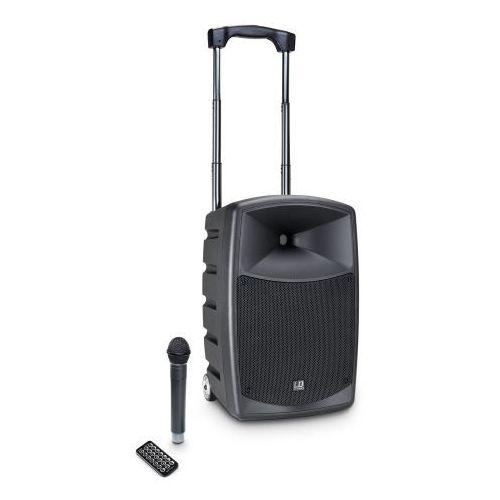 LD Systems Roadbuddy 10 przenośny zestaw nagłośnieniowy 120W RMS z mikrofonem bezprzewodowym nagłownym, Bluetooth, MP3
