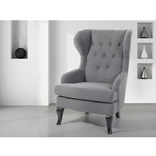 Fotel szary - tapicerowany - pikowany - do salonu - ALTA - oferta [6530d14ef3dfe67a]