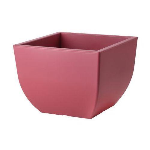 Form plastic Doniczka muna 35 kwadrat marsala 34,5 cm (5907474348148)