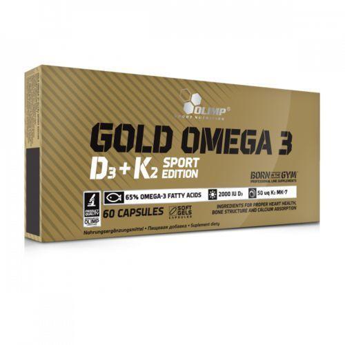 OLIMP GOLD OMEGA 3 D3 + K2 SPORT EDITION - 60 kapsułek (5901330062063)