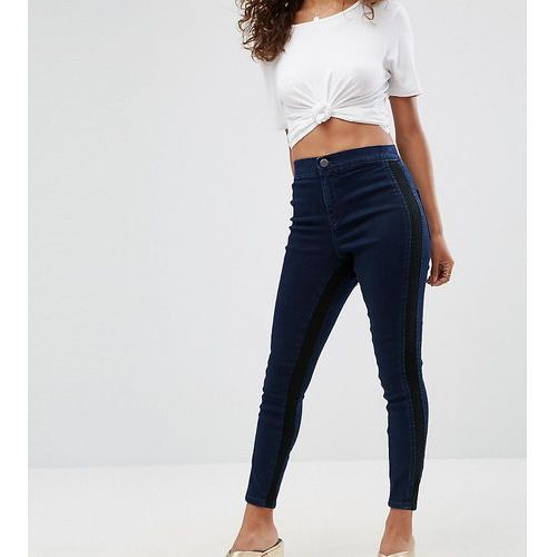 rivington high waisted jegging with side inserts - blue marki Asos petite