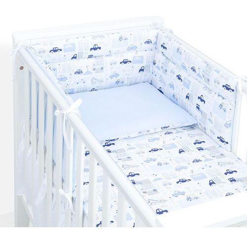 ochraniacz do łóżeczka 70x140 autka niebieskie / koordynat błękit marki Mamo-tato