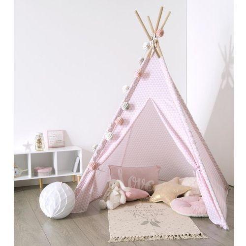 Namiot dla dzieci, INDIAŃSKI, TIPI, 120 x 120 x 160 cm, różowy (3560234486164)