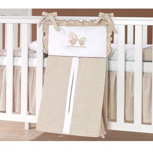 torba na pampersy wesołe zajączki brąz z białym marki Mamo-tato