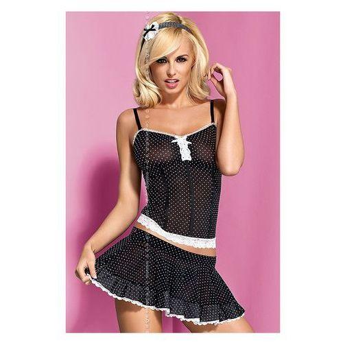 Kostium Obsessive Servanta corset & skirt w kolorze czarnym - produkt z kategorii- garsonki i kostiumy