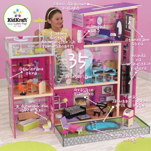 Domek dla lalek Luksusowa Rezydencja z basenem  Wonder Toy, Kidkraft z wonder-toy.com
