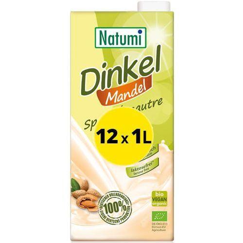 139natumi Natumi - bezmleczny napój mleko orkiszowo-migdałowe 12x1l zestaw eko