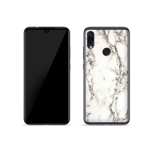 Xiaomi Redmi Note 7 - etui na telefon Fantastic Case - biały marmur, kolor biały
